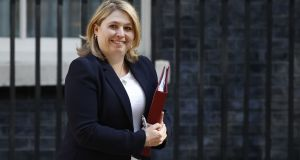 "Northern Ireland Secretary Karen Bradley: ""I do not have executive powers."" Photograph: Tolga Akmen/AFP/Getty Images"