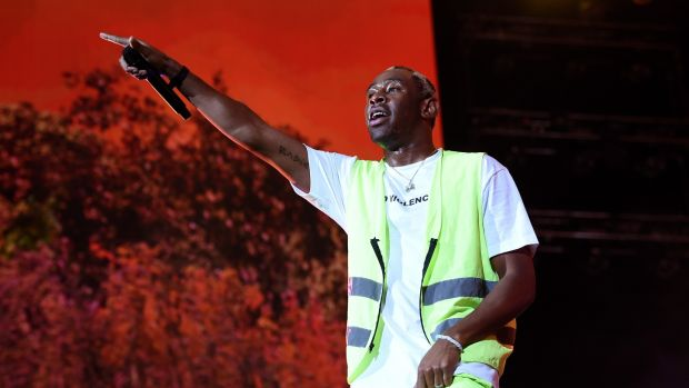 Tyler, the Creator performs at the 2018 Coachella festival. The artist plays Saturday at Longitude. Photograph: Kevin Winter/Getty Images