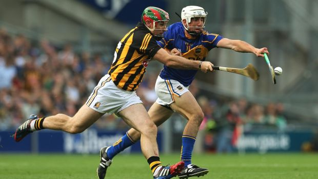 Kilkenny's Kieran Joyce battles with Tipperary's Patrick 'Bonner' Maher during the replayed 2014 All-Ireland final. Kilkenny prevailed 2-17 to 2-14. Photograph: Lorraine O'Sullivan/Inpho