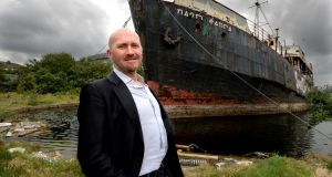 Sam Field Corbett of Irish Ship & Barge Fabrication acquired the 'Naomh Eanna' for €1 in 2015. Photograph: Cyril Byrne