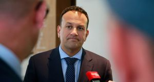 Taoiseach Leo Varadkar at the opening of Zendesk's new office in Dublin. Photograph: Nick Bradshaw