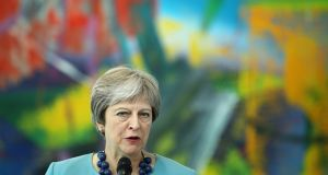 Irish sources expressed concern that Theresa  May's anticipated move would be unacceptable to Brussels. Photograph: Sean Gallup/EPA