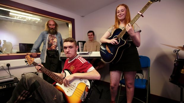 From left, John White, Aaron Connolly, Conor McDonnell and Tamzin Brogan. Photograph: Nick Bradshaw for the Irish Times