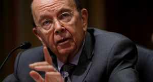 "It's hard to believe there's ""no bright line level of the stock market that's going to change policy"", as US commerce secretary Wilbur Ross put it last week. Photograph: Kevin Lamarque/Reuters"