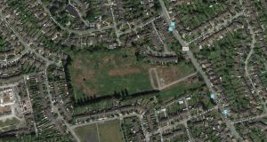 Google satellite view of 10 acre Goatstown site owned by Jennifer Coyle.