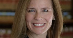 Amy Coney Barrett, a potential Trump pick for the US supreme court. Photograph: Julian Velasco/AFP/Getty Images.