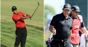 Tiger Woods and Phil Mickelson could be set for a $10m showdown. Photo: Getty Images