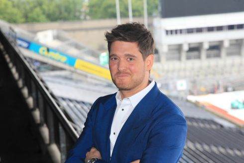 BUBLE'S BACK: Michael Buble at Croke Park, ahead of his show at the stadium this Saturday. Photograph: Garrett White/Collins