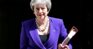 Theresa May is proposing that the UK and EU would form a commons customs area, but that the UK could set its own tariff levels with non EU countries.  Photograph: Simon Dawson/Reutes/File Photo