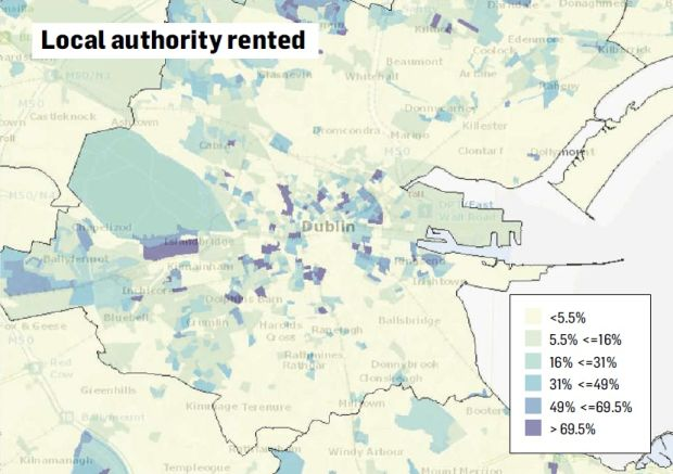 Dublin's true social divide is revealed by housing map on
