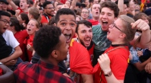 Party time in Brussels as Belgium beat Brazil