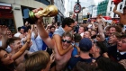 Is it 'coming home'? England fans celebrate beating Sweden