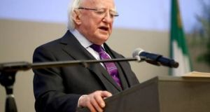 President Michael D Higgins: he already has the support of the Labour Party and Fianna Fáil. Fine Gael is also expected to support him