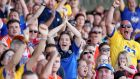 Roscommon fans in good voice during the All-Ireland qualifier victory over Armagh at O'Moore Park.  Photograph: Bryan Keane/Inpho