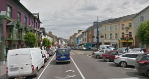 The statement comes after a protest last week in Macroom (above), Co Cork, where members of Unite's archaeology branch voiced concerns about pay rates on the bypass at the town. File photograph: Google Street View