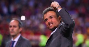 The Spanish Football Federation named former Barcelona coach Luis Enrique as their new manager. Photograph: Getty Images