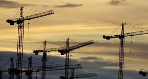 Trade unions Siptu and Unite have been in dispute as to which should represent crane operators. Photograph: The Irish Times