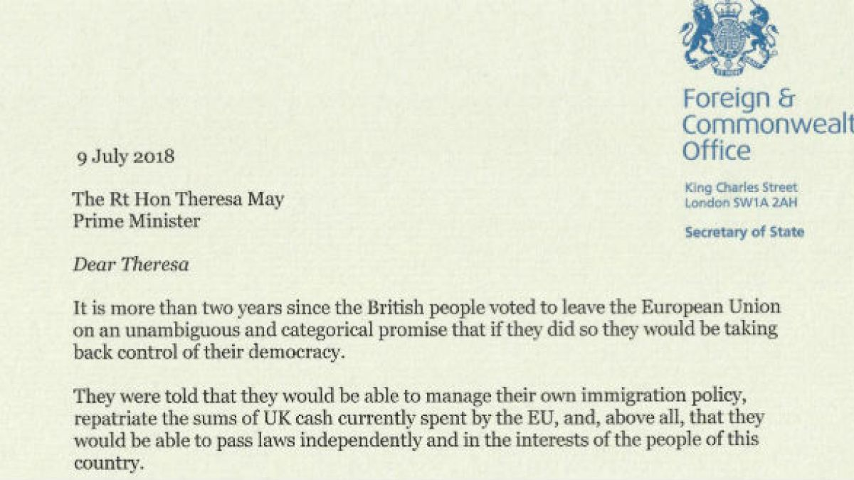 The dream is dying\': Boris Johnson\'s resignation letter in full