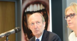 Minister for Transport  Shane Ross criticised the filibustering from a handful of TDs that delayed the new law and suggested the delays had cost lives. Photograph: Dara Mac Dónaill / The Irish Times