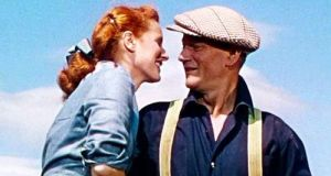 "John Ford's 1952 film ""The Quiet Man"", starring John Wayne and Maureen O'Hara. The new exhibition is hosted in the Foynes Flying Boat and Maritime Museum, which O'Sullivan opened 29 years ago"