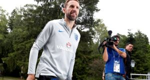 Gareth Southgate's England team play Croatia in the World Cup semi-final on Wednesday. Photograph: Reuters