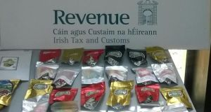Officers in Portlaoise seized two kilos of cannabis infused 'jelly sweets'. Photograph: Revenue