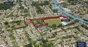 The site at Oatlands College in Mount Merrion with planning permission for 64 residential units.