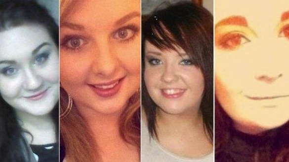 Ashling Middleton, Chermaine Carroll, Gemma Nolan and Niamh Doyle died after the car in which they were travelling was in collision with a van near Athy, Co Kildare.