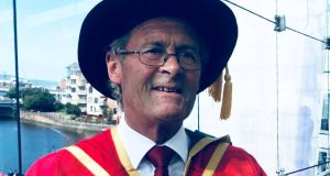 Bill Nowlan, founder of Hibernia Reit, with his PhD from the University of Ulster