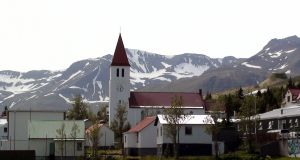 Siglufjordur, northernmost town in Iceland, where the Dark Iceland crime series is set. Photograph: Jakob Gleby/wikimedia