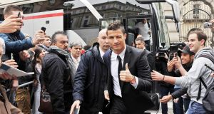 Real Madrid's Portuguese striker Cristiano Ronaldo has joined Italian Serie A side Juventus FC in a deal worth €100 million. Photograph: PA