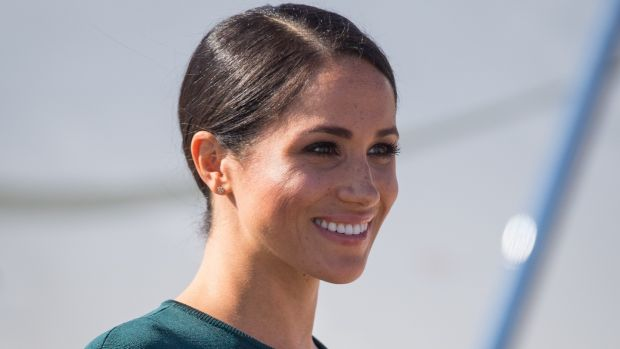 Meghan Markle, Duchess of Sussex arriving at Dublin Airport on Tuesday. Photograph: Dominic Lipinski/Getty Images