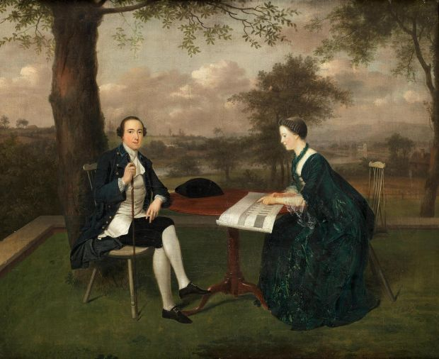 Arthur Devis Preston, portrait of James and Emily Fitzgerald, Count and Countess of Kildare, sold at Bonham's for €262,000