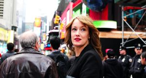 "Lisa Tierney-Keogh in Times Square, New York: ""Despite my clear exasperation with New York, we've come to terms with one another. I have learned how to navigate this city and its inherent chaos."" Photograph: Maribel de la Torre"