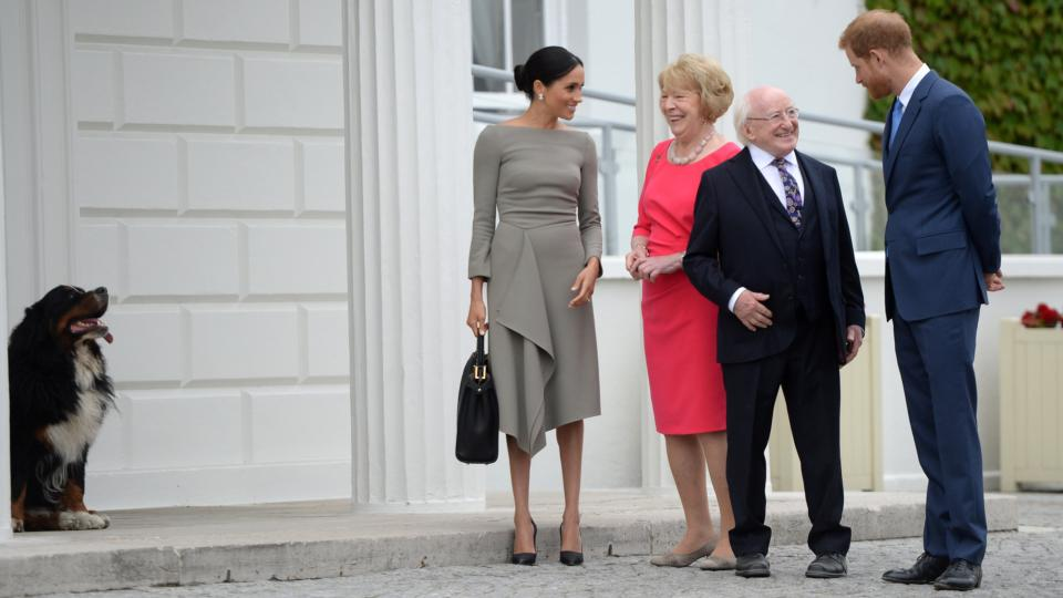 b1fbe3f0880 Meghan Markle s second day in Ireland starts with stylish aplomb