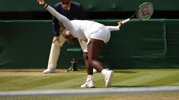 Serena Williams in action against Italy's Camila Giorgi. Photograph: Getty Images