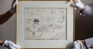 Map of the Hundred Acre Wood, at €487,000 the most expensive book illustration ever sold at auction