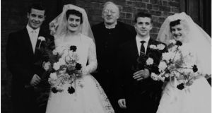 Liz, Ronnie, Phil, John  and Marge had a double wedding in 1960