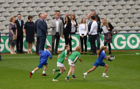 CROKE PARK: Harry and Meghan  during their visit to GAA HQ.  Photograph: Dara Mac Donaill / The Irish Times