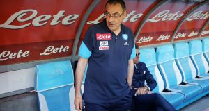 Former Napoli boss Maurizio Sarri has been lined up to become the new Chelsea manager.  Photograph:  Francesco Pecoraro/Getty Images
