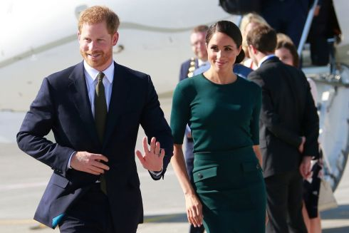 DUBLIN AIRPORT:  Harry and Meghan arrive for their two-day visit. Photograph: Getty