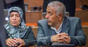 Ayse and Ismail Yozgat, parents of NSU victim Halit Yozgat, awaiting the verdict in the trial of Beate Zschäpe in Munich on Wednesday. Photograph:  Peter Kneffel/AFP/Getty Images