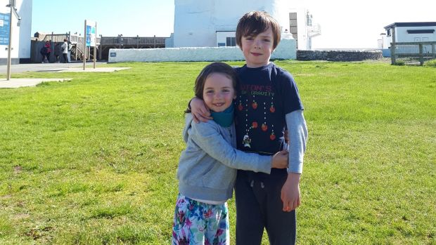 Hazel and Neil Grennan at Hook Head Lighthouse in Wexford.