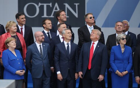 The great and good attend the opening ceremony at the 2018 Nato Summit at Nato headquarters. Photograph: Sean Gallup/Getty Images