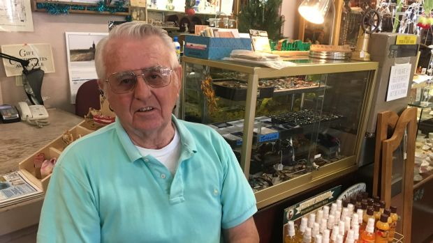 Kingman resident Karl Kettlehut in his antique shop on Beale Street. Photograph: Suzanne Lynch