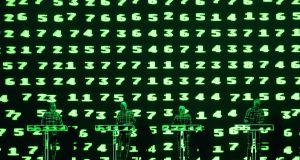 Kraftwerk performing their live 3d show in Live At the Marquee, Cork. Photograph:  Darragh Kane