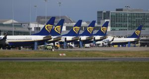 Ryanair Aircraft on their stands Dublin Airport. File photograph: Nick Bradshaw