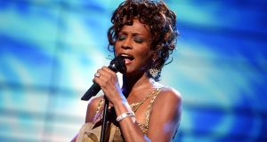The late singer Whitney Houston performing on stage during the 2004 World Music Awards  in Las Vegas. File photograph:  Kevin Winter/Getty Images
