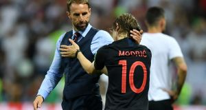 Luka Modric will captain Croatia in the World Cup final. Photograph: Getty Images