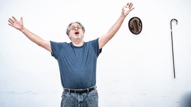 Stanley Townsend in rehearsal for the festival's production of the elegy 'Incantata' by Paul Muldoon, and directed by Sam Yates.